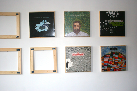 ... LimitedPressing's Hoverboard http://limitedpressing.com/hoverboard , I  found a post detailing how to make inexpensive frames to display your  records.