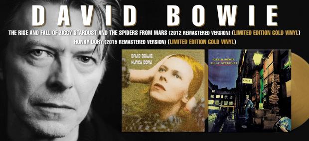 Gold David Bowie Vinyl Records