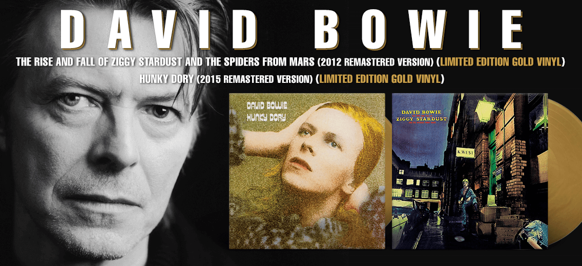 Limited Gold Colored David Bowie Vinyl Reissues Vinyl